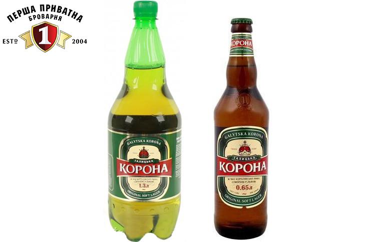 Пиво Перша Приватна Броварня Галицька Корона