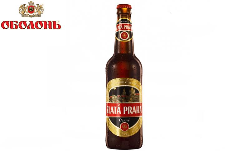 Пиво Zlata Praha Cerne